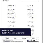 Free Math Worksheets For Exponents Problems ** ** #free #printables   Free Printable Exponent Worksheets