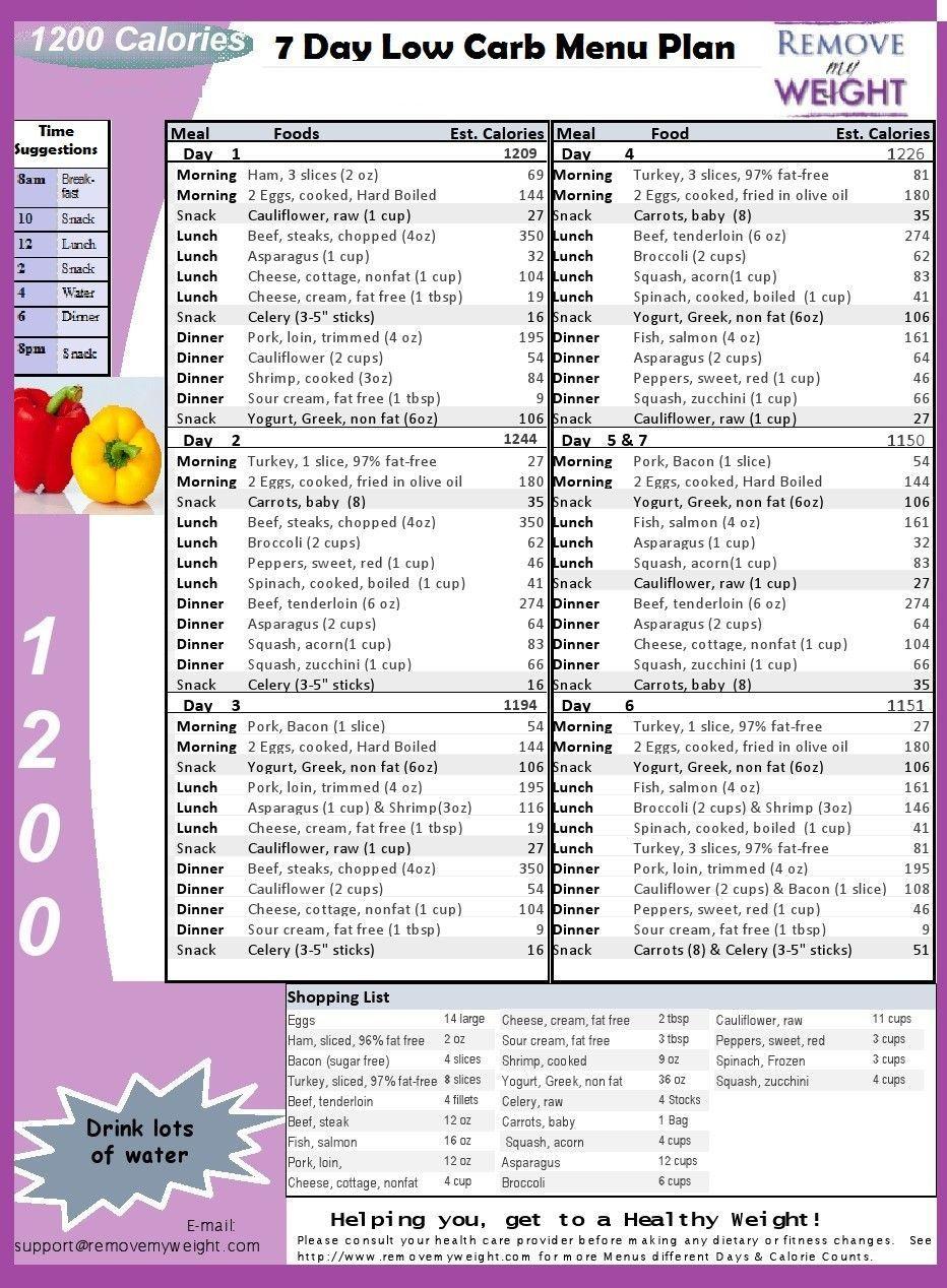Free Meal Plan | Diet And Fitness | Pinterest | Diet, 1200 Calorie - Free Printable 1200 Calorie Diet Menu