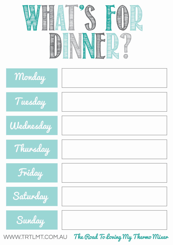 Free Meal Planning Printables | *printables* | Pinterest - Free Printable Weekly Meal Planner