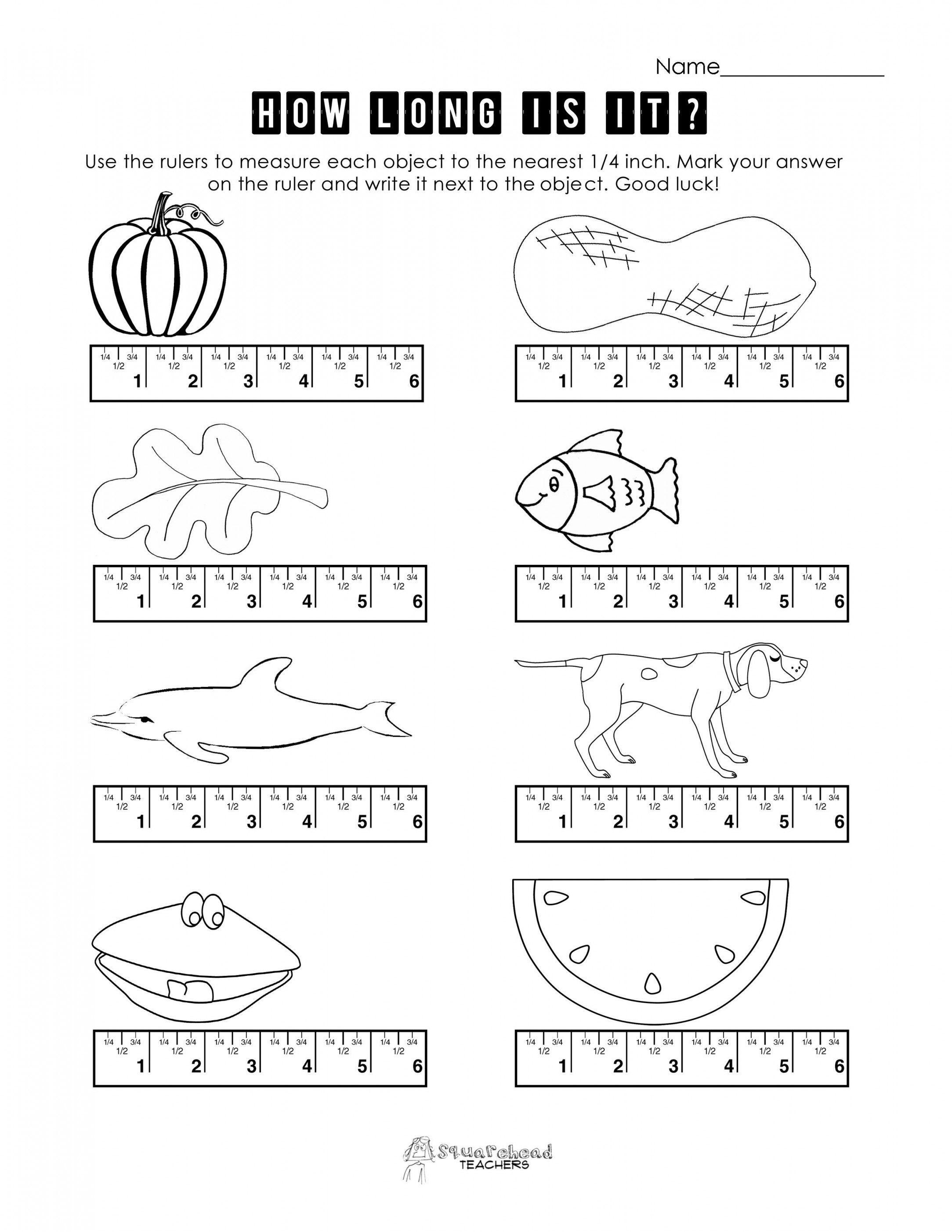 Free Measurement Worksheets Grade 1 | Lostranquillos - Free Printable Measurement Worksheets Grade 1