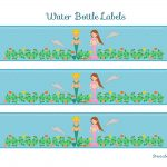Free Mermaid Birthday Party Printables From Printabelle | Catch My Party   Free Printable Little Mermaid Water Bottle Labels