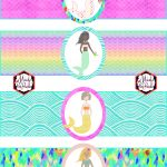 Free Mermaid Birthday Party Printables | Party Printables   Free Printable Little Mermaid Water Bottle Labels
