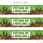 Free Minecraft Printables | Catch My Party For Free Printable   Free Printable Minecraft Cupcake Toppers And Wrappers