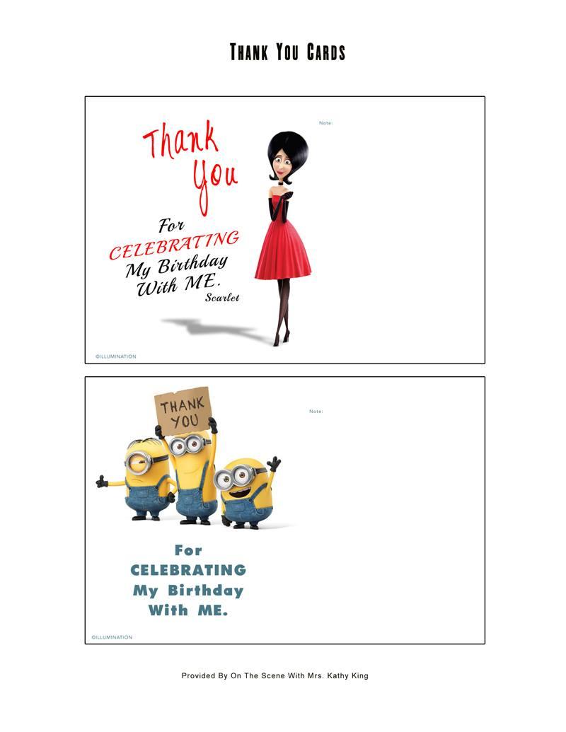 Free Minion Movie Printable Party Decoration Pack! #minions - Mrs - Thanks A Minion Free Printable