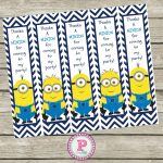 Free Minion Thanks A Minion For Coming To My Party Bookmarks   Thanks A Minion Free Printable