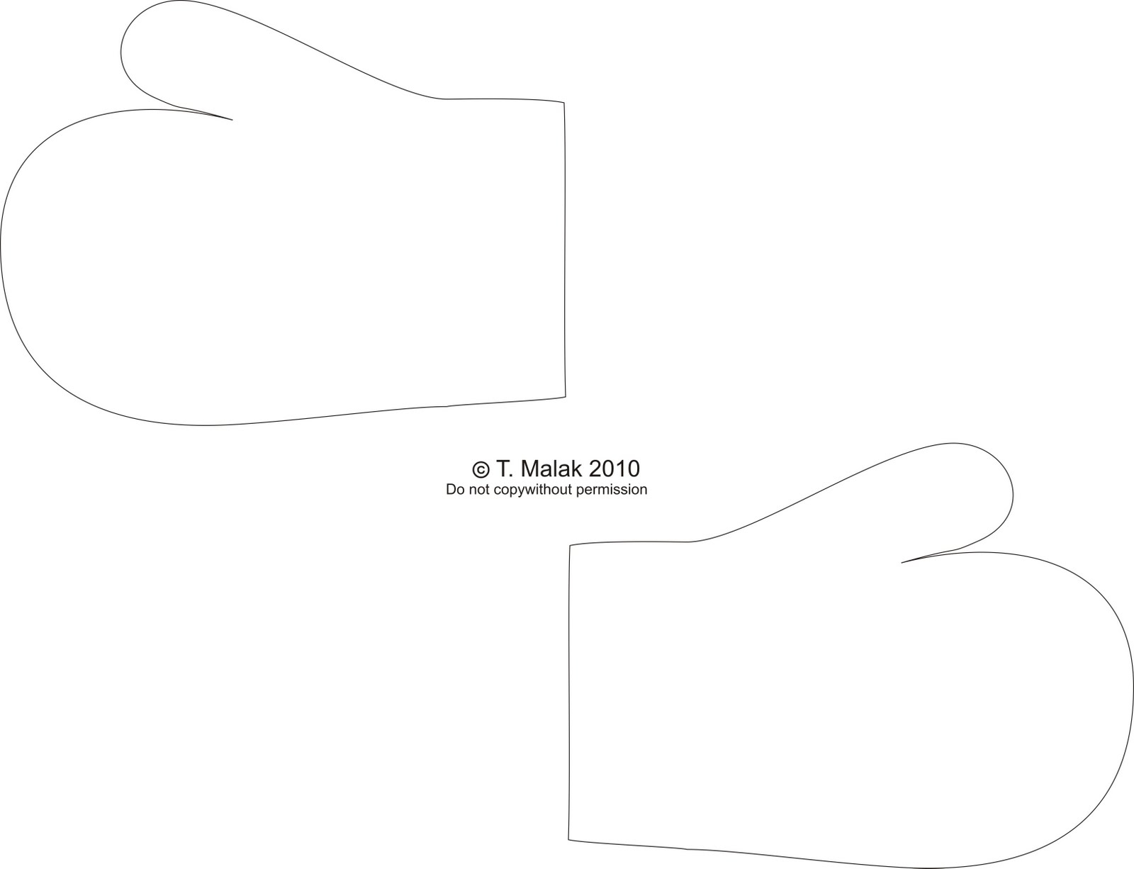 Free Mitten Outline, Download Free Clip Art, Free Clip Art On - Free Mitten Template Printable
