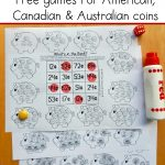 Free Money Games For K 2   With American, Canadian, And Australian   Free Printable Money Activities