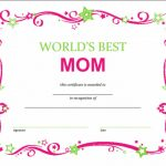 Free Mothers Day Printable Certificate In 2018 | Templates Intended   Free Printable Best Daughter Certificate