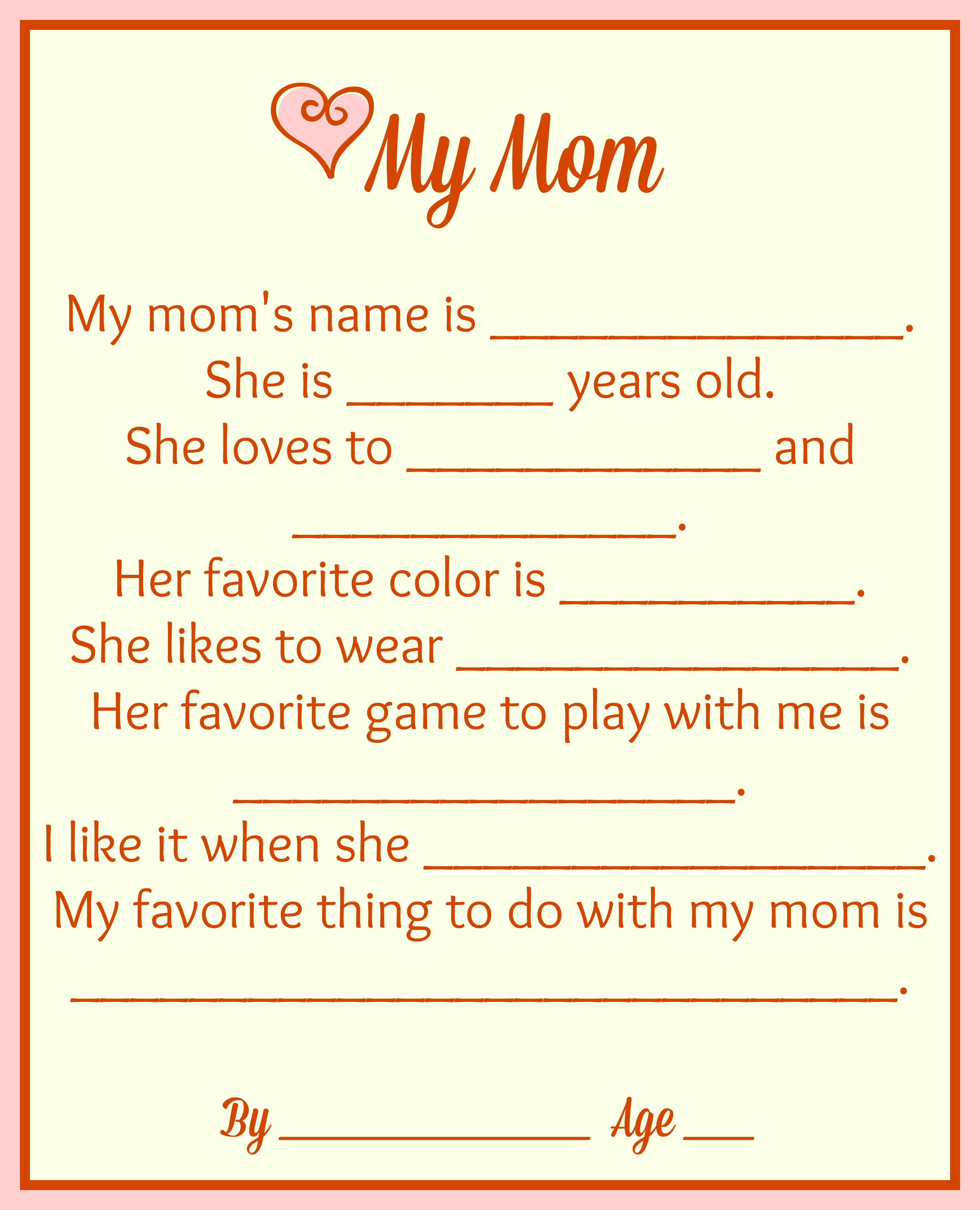 Free Mother's Day Printables {Make It For Mom} - | Mothers' Day Tea - Free Printable Mother's Day Games