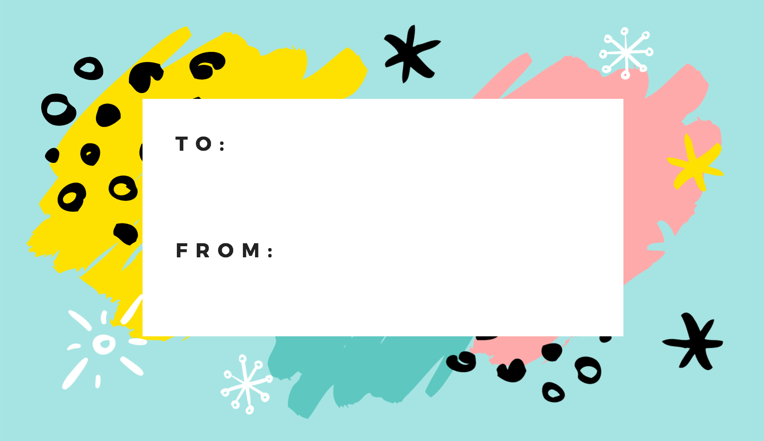 Free Online Gift Tags Maker: Design A Custom Gift Tag - Canva - Free Customized Name Tags Printable