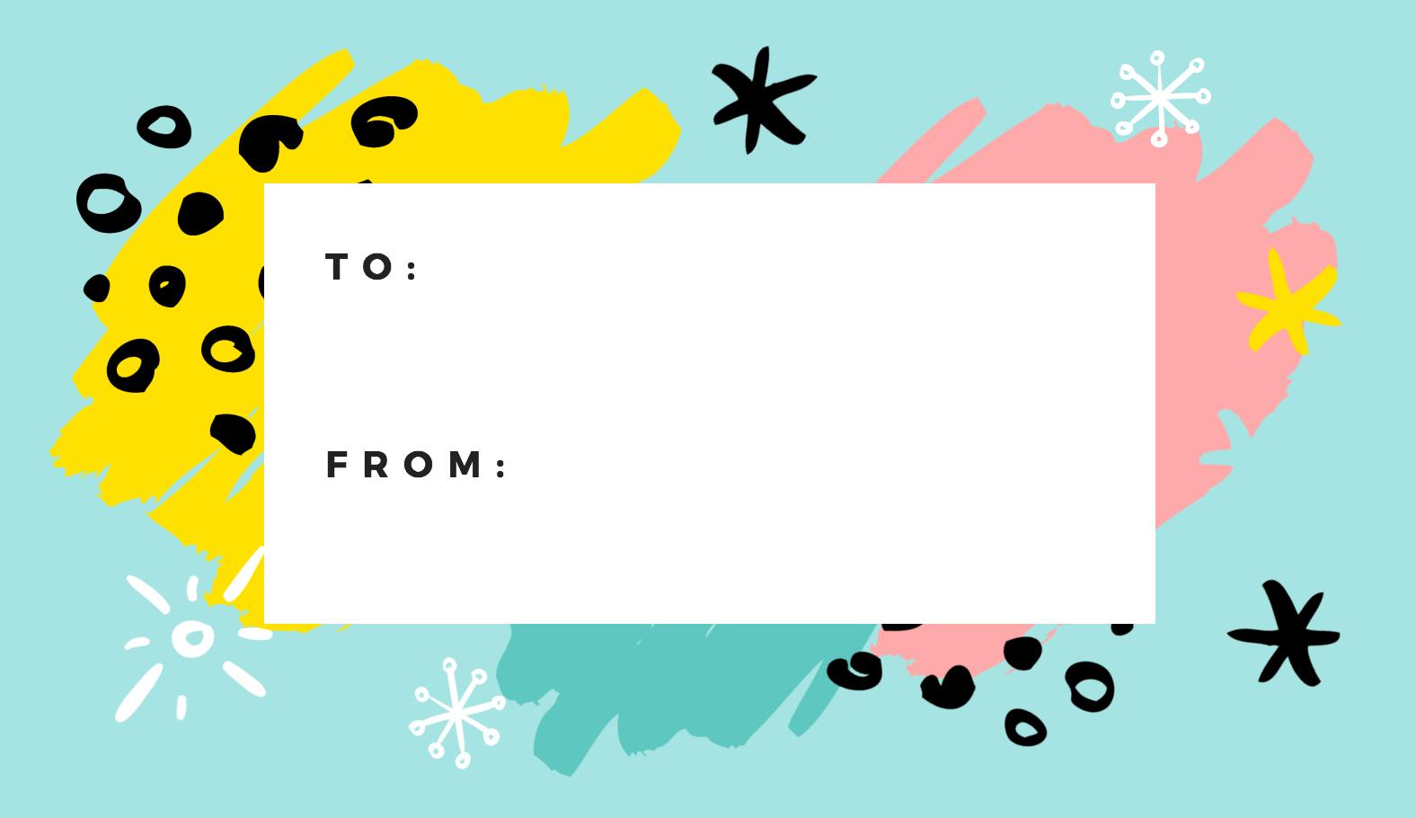 Free Online Gift Tags Maker: Design A Custom Gift Tag - Canva - Free Printable Customizable Gift Tags