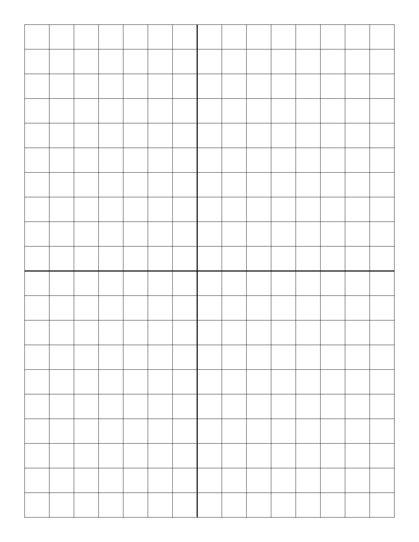 Free Online Graph Paper / Plain - Half Inch Grid Paper Free Printable