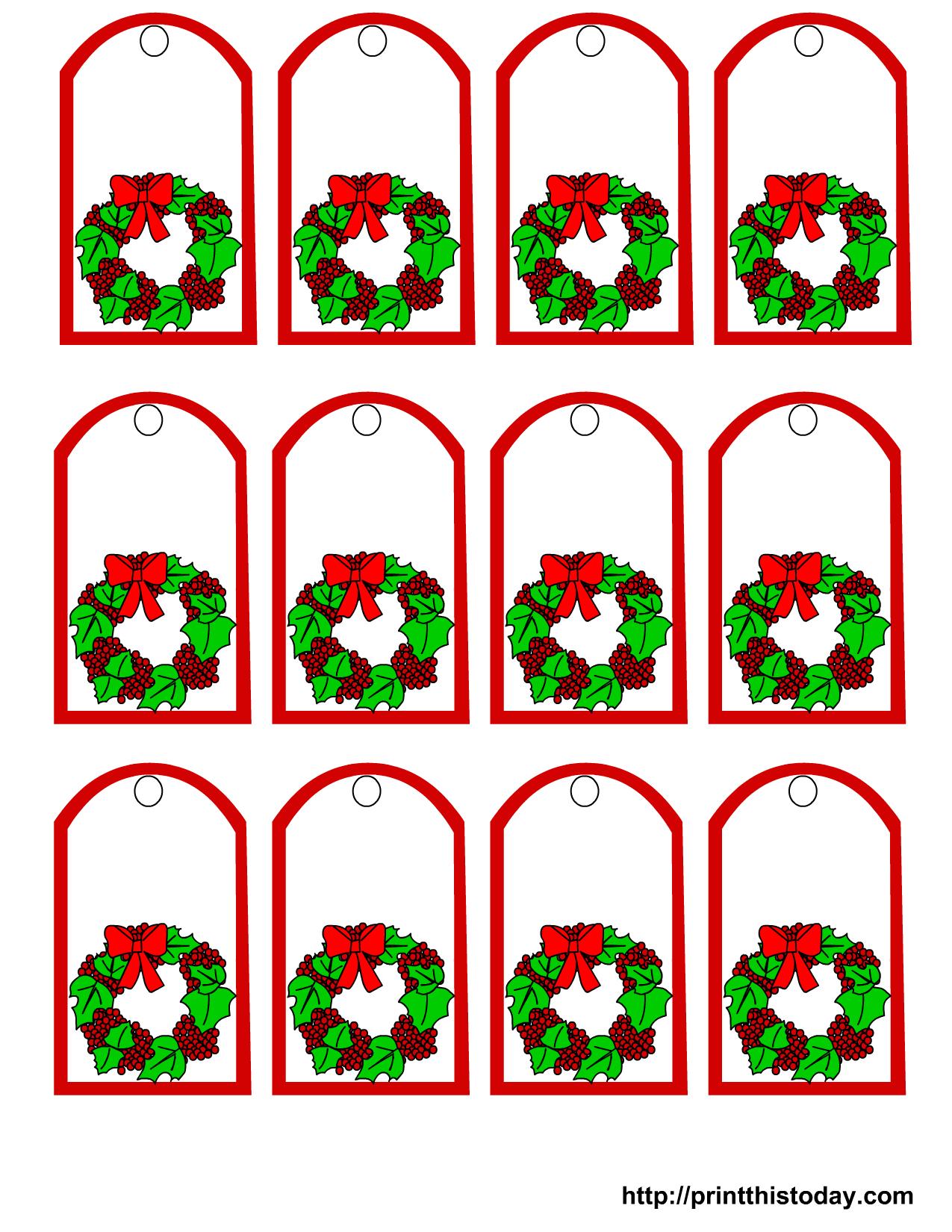Free Online Printable Christmas Gift Tags – Festival Collections - Free Online Gift Tags Printable