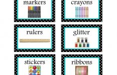 Free Printable Classroom Labels For Preschoolers