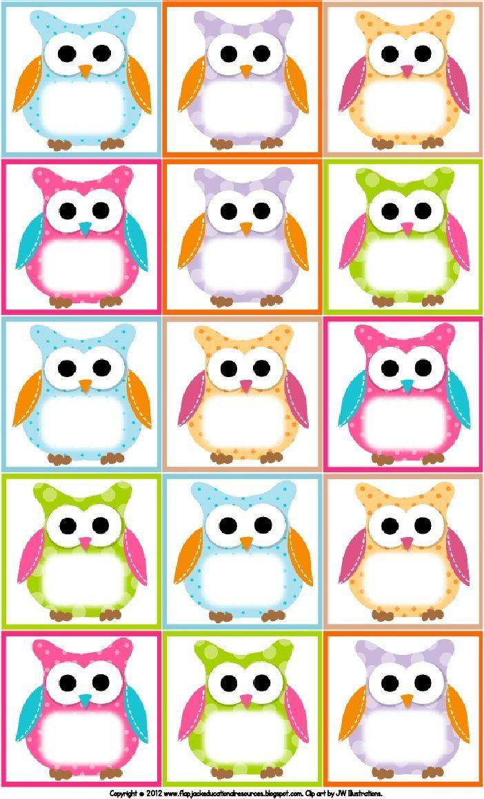 Free Owl Printables | Free Printable Owl Labels | Owl Theme - Free Printable Classroom Labels With Pictures