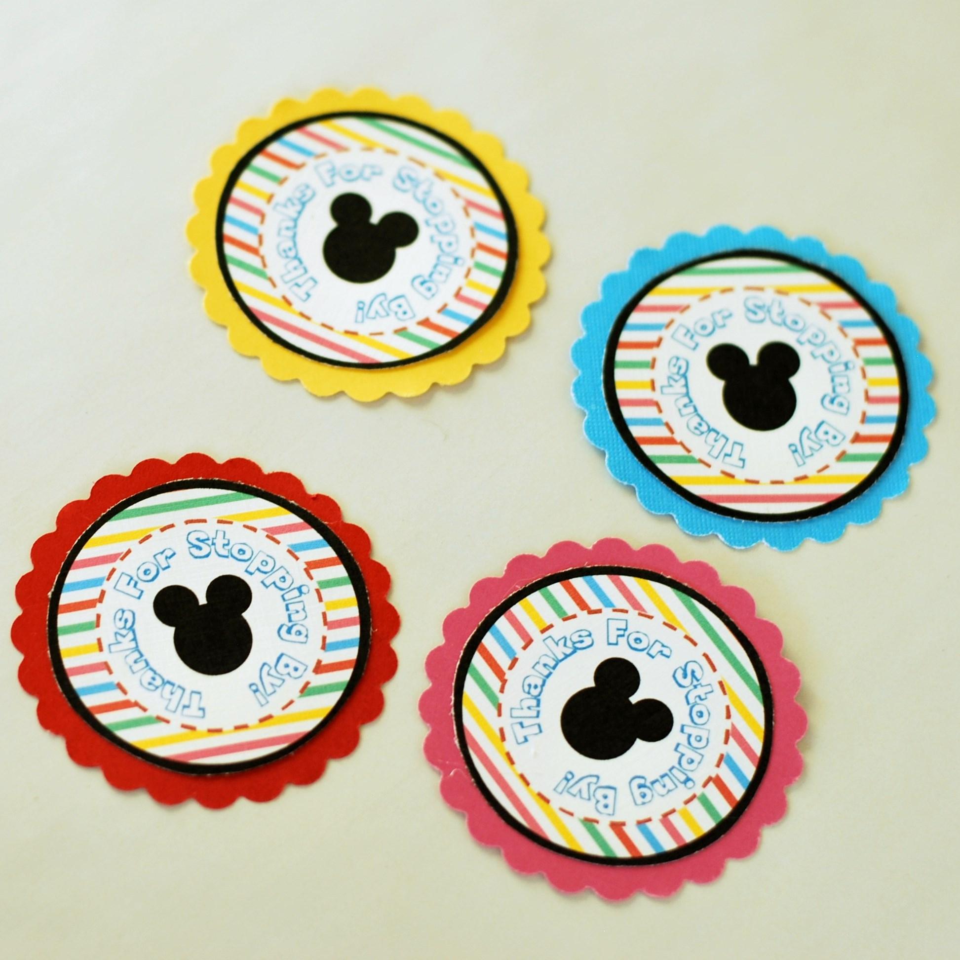 Free Party Printables | Posh Tart - Free Printable Mickey Mouse Favor Tags