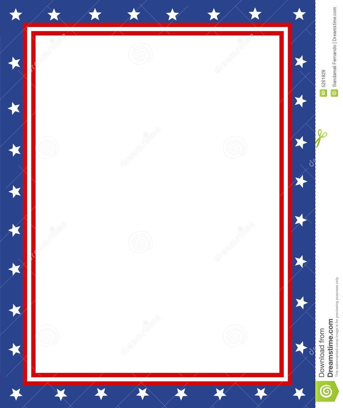 Free Patriotic Page Borders | Patriotic Border | Sponsored Child - Free Printable Patriotic Writing Paper
