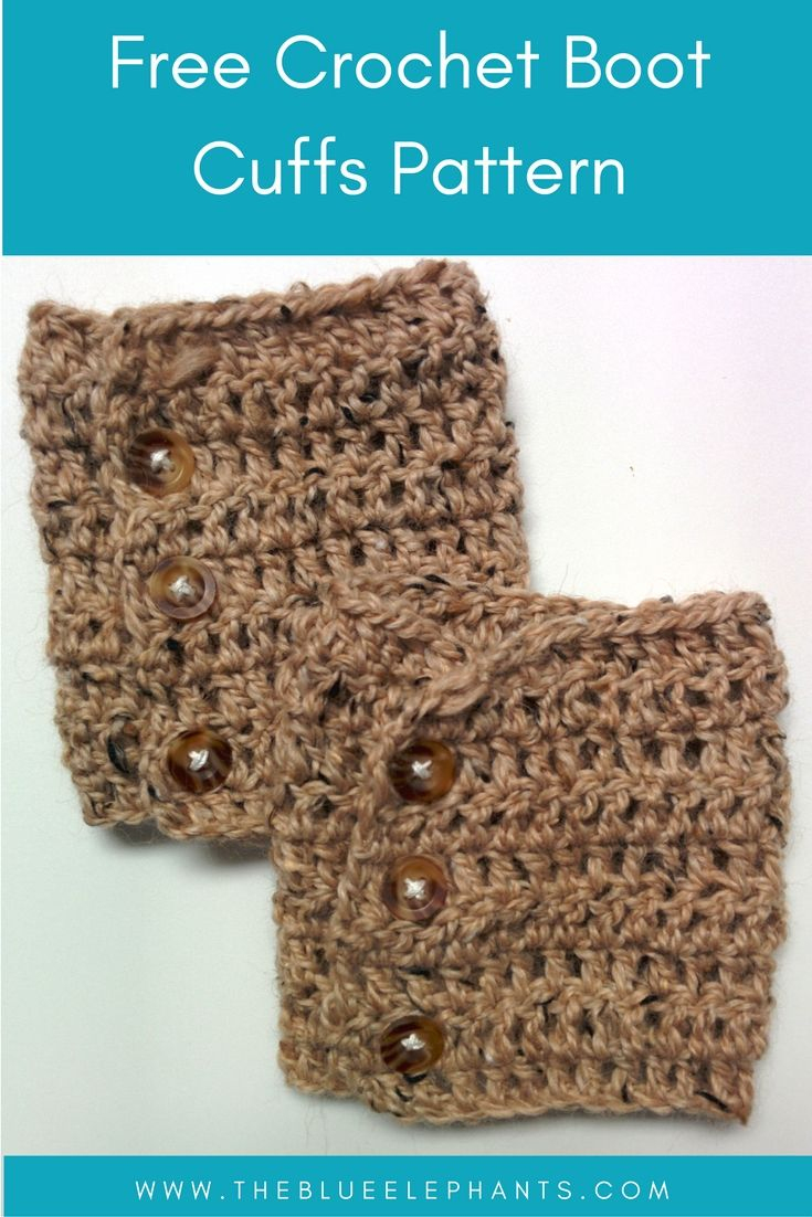 Free Patterns: Crochet Boot Cuffs (2 Versions) | Crochet Ideas And - Free Printable Crochet Patterns For Boot Cuffs