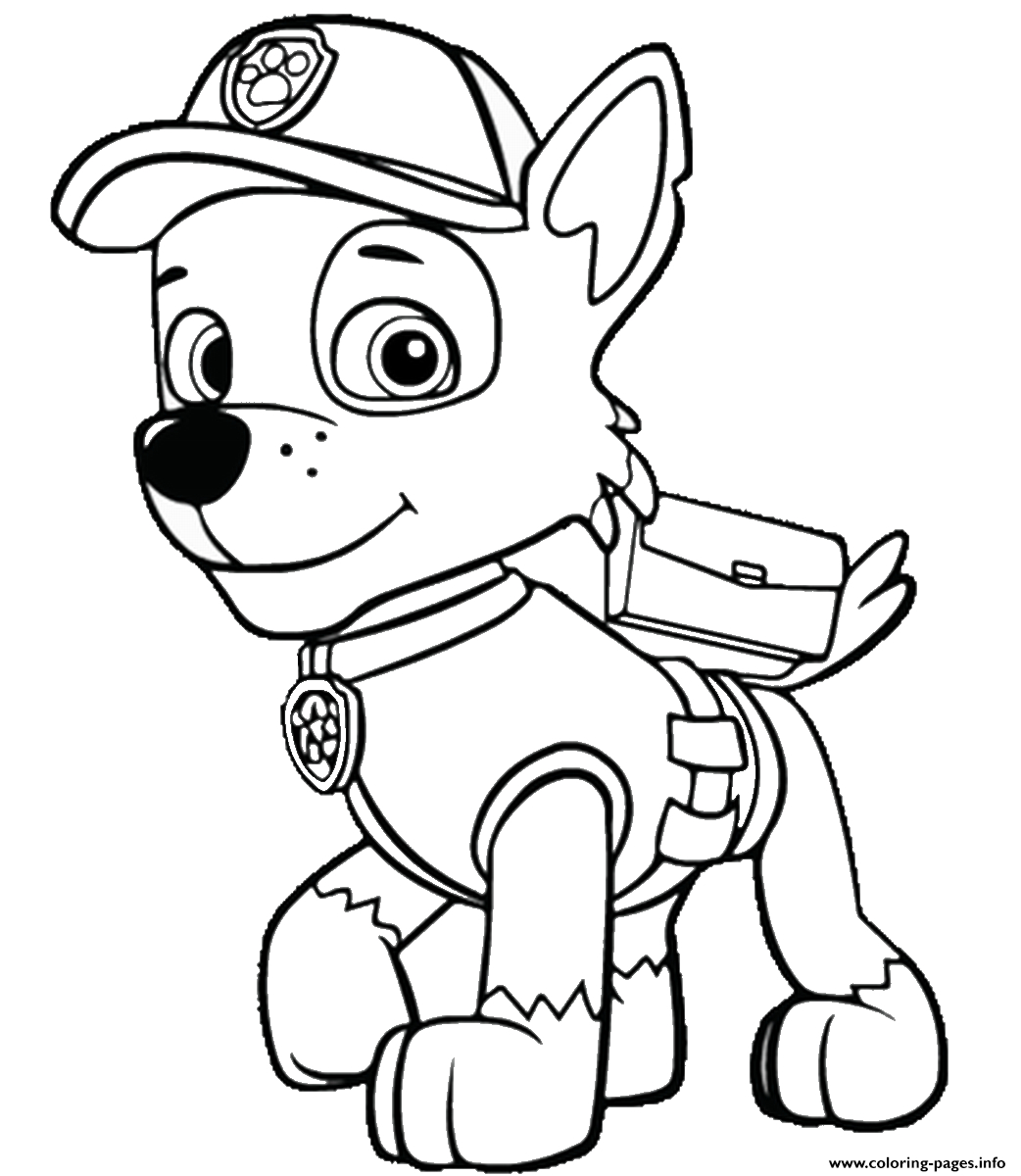 Free Paw Patrol Coloring Pages - Happiness Is Homemade - Free Printable Paw Patrol Coloring Pages