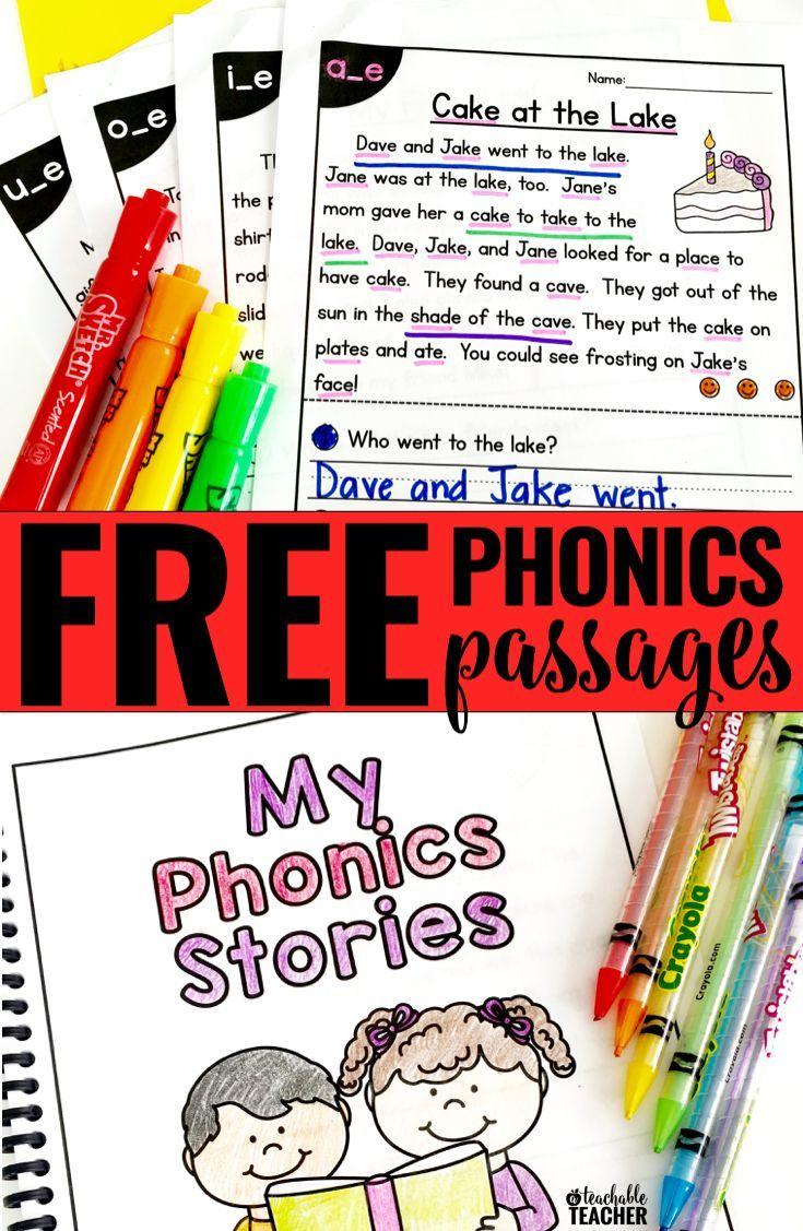 Free Phonics Reading Passages | Teaching Phonics | Phonics Reading - Free Phonics Readers Printable