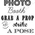 Free Photo Booth Sign (Printable) | Mr & Mrs | Fiesta En La Playa   Free Printable Photo Booth Sign