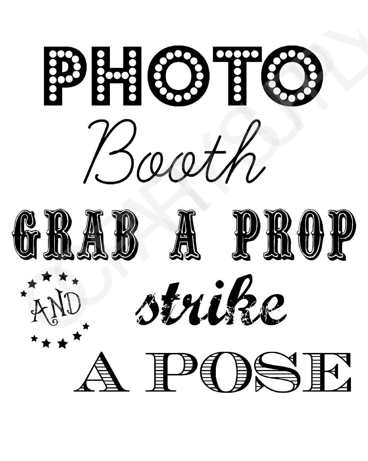 Free Photo Booth Sign (Printable) | Mr & Mrs | Fiesta En La Playa - Selfie Station Free Printable