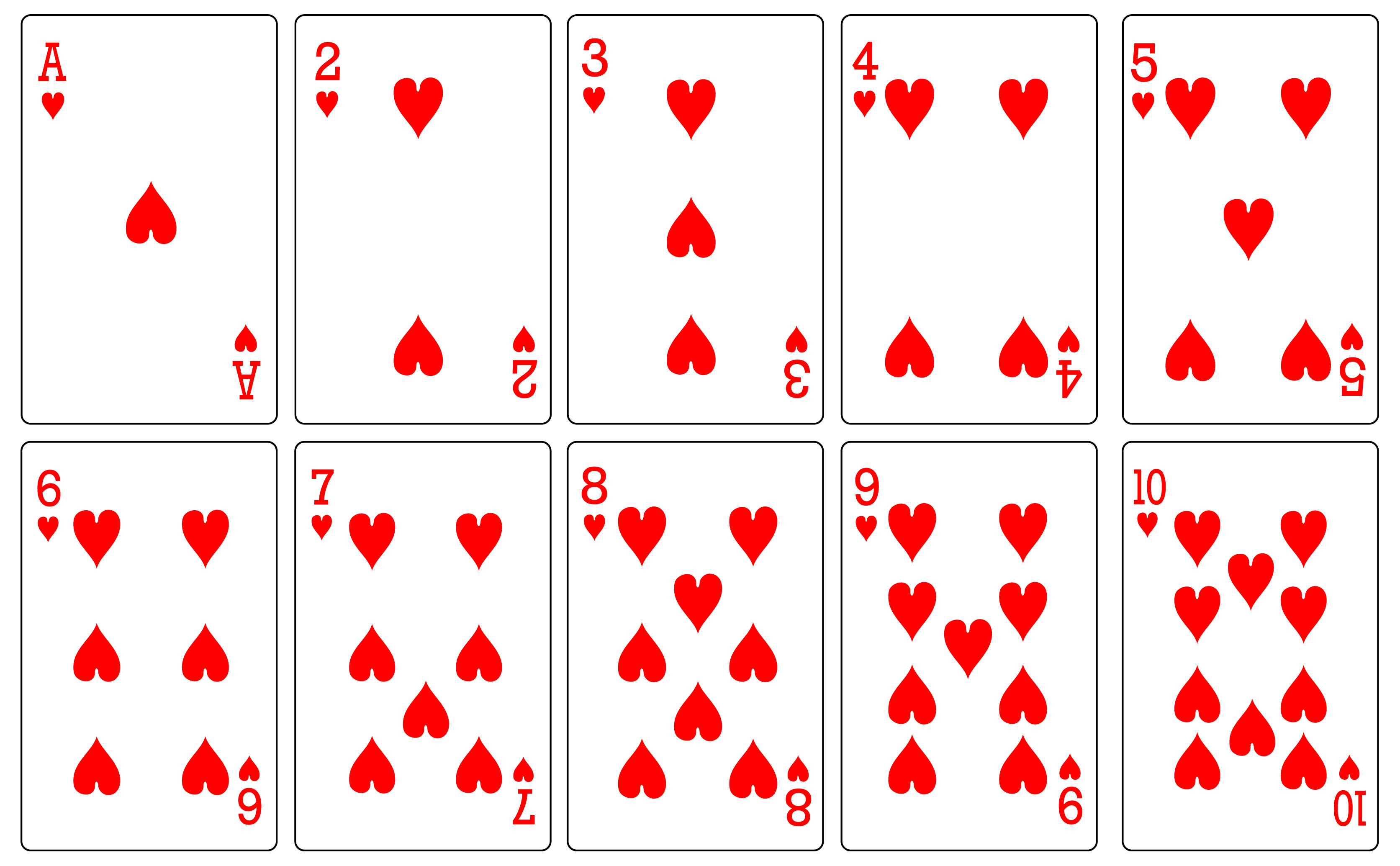 Free Playing Cards, Download Free Clip Art, Free Clip Art On Clipart - Free Printable Deck Of Cards