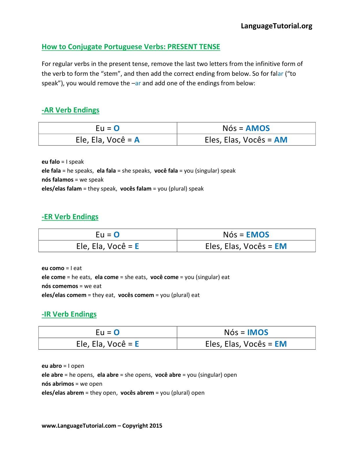 Free Portuguese Worksheets - Online & Printable | Portuguese - Free Printable Portuguese Worksheets