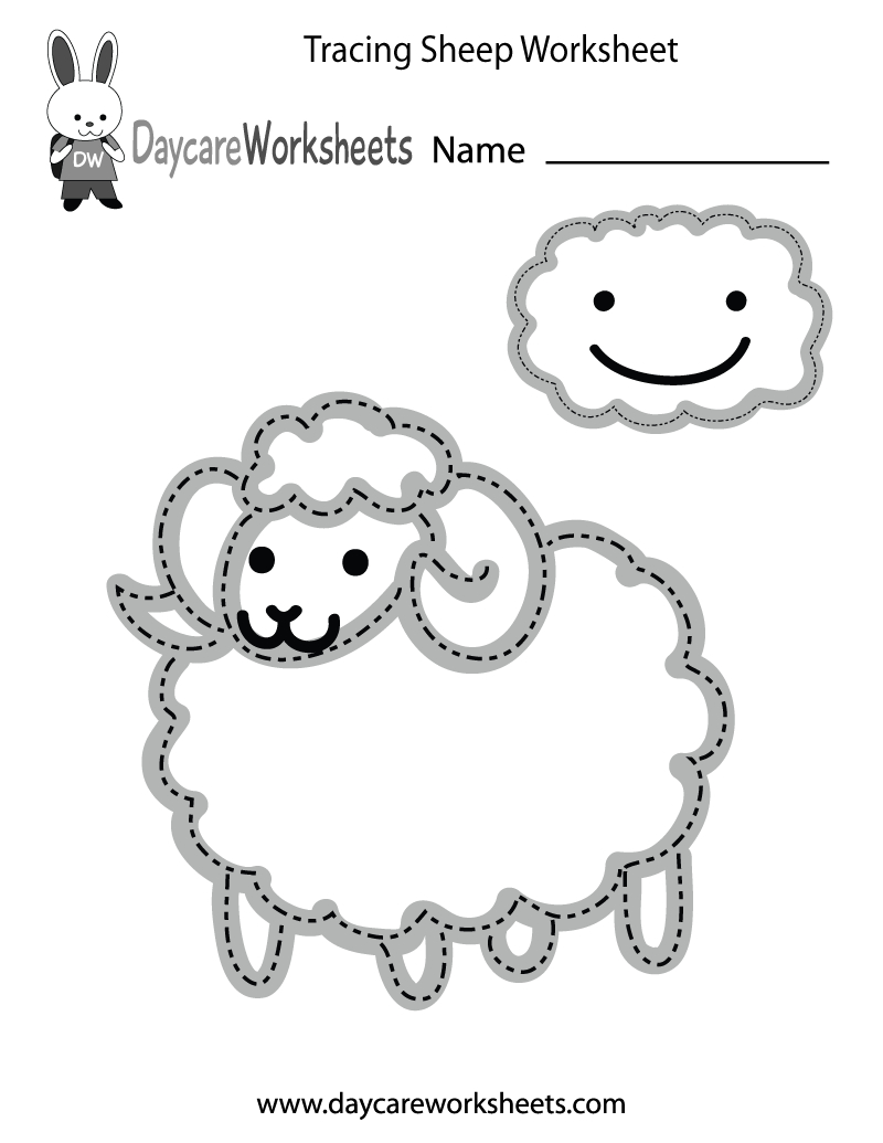 Free Preschool Tracing Sheep Worksheet - Free Printable Fine Motor Skills Worksheets