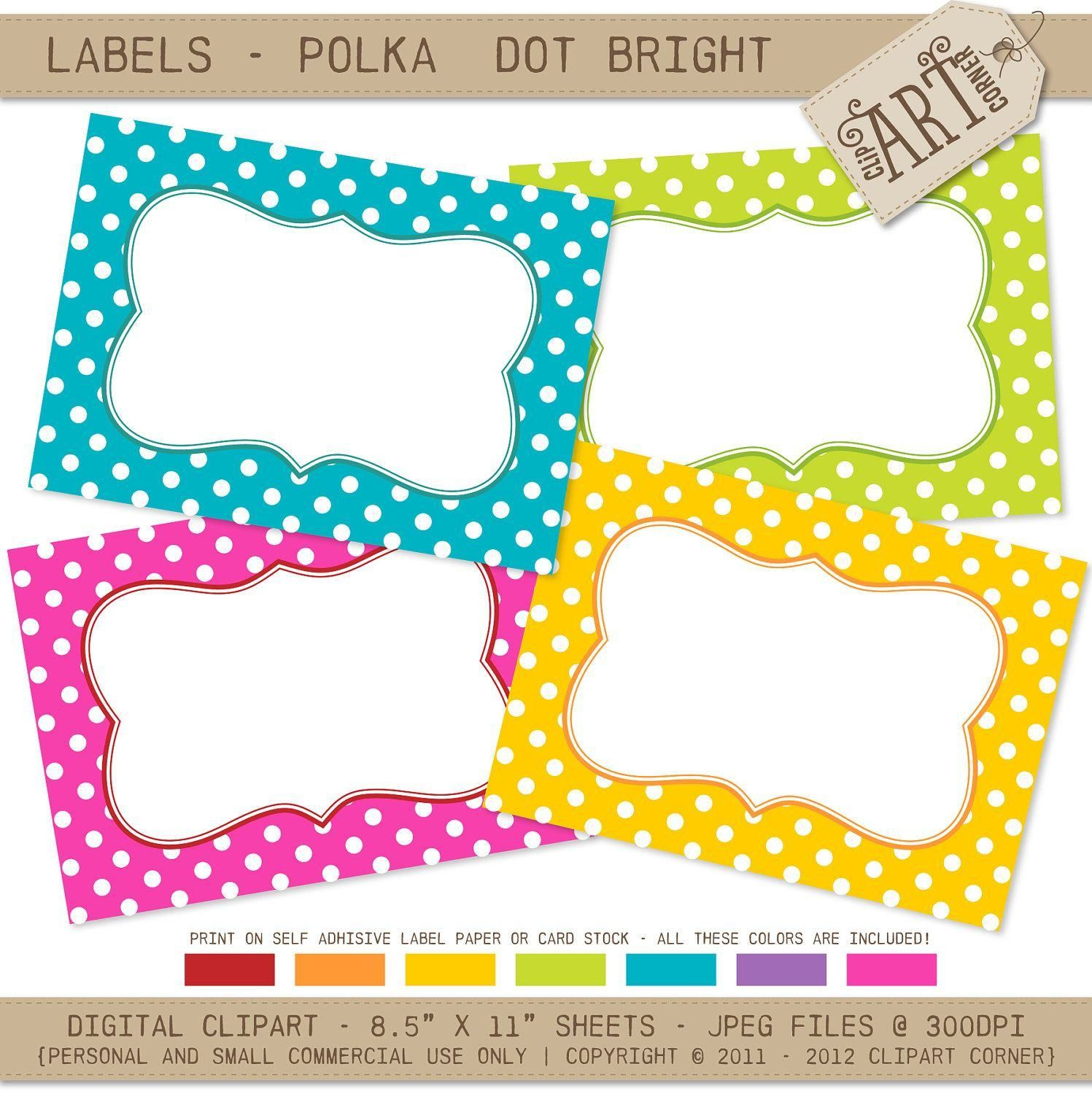 Free Print Labels Template Free Guide Polka Dot Labels Free - Free Printable Name Tags