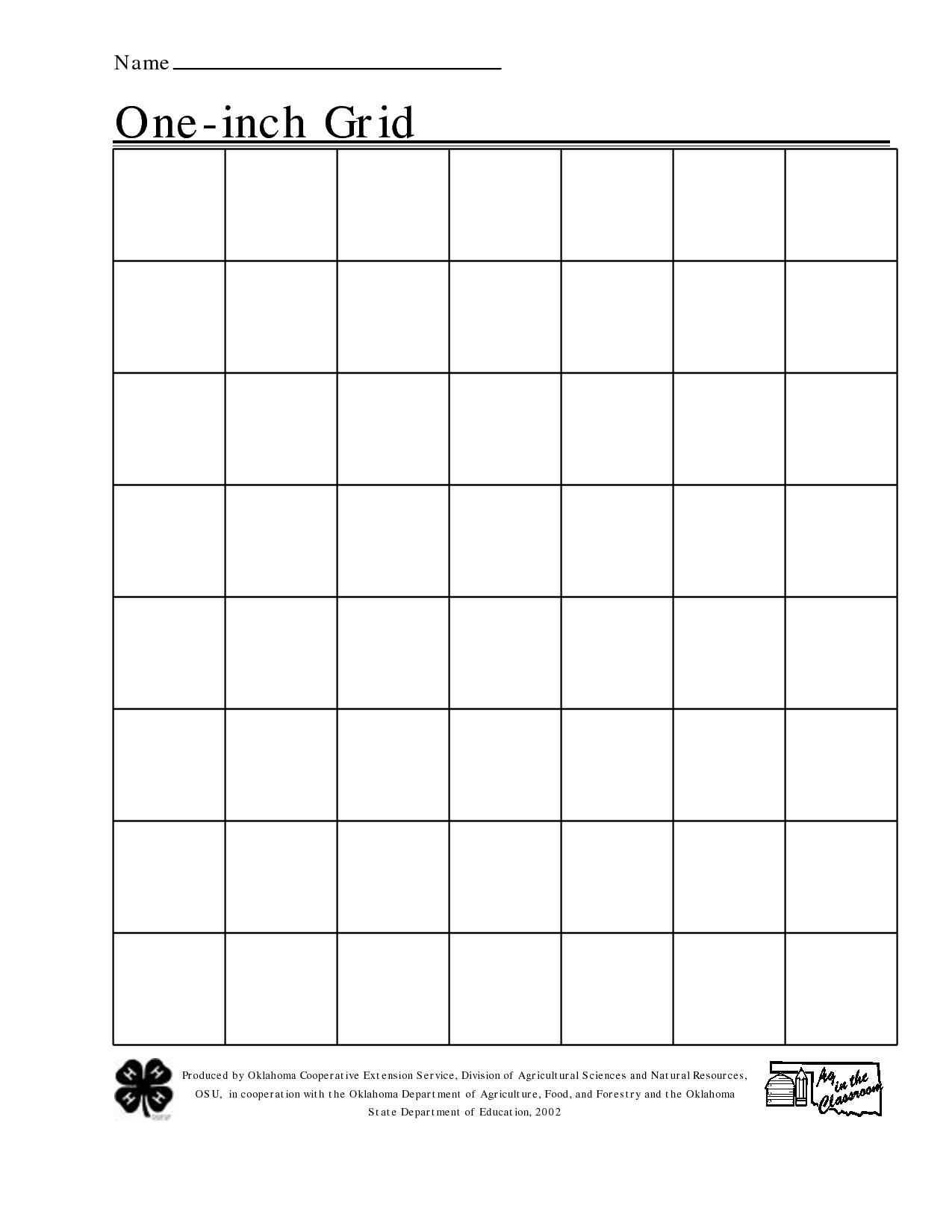 Free Printable 1 Inch Grid Paper   Math   Pinterest   Printable - Half Inch Grid Paper Free Printable