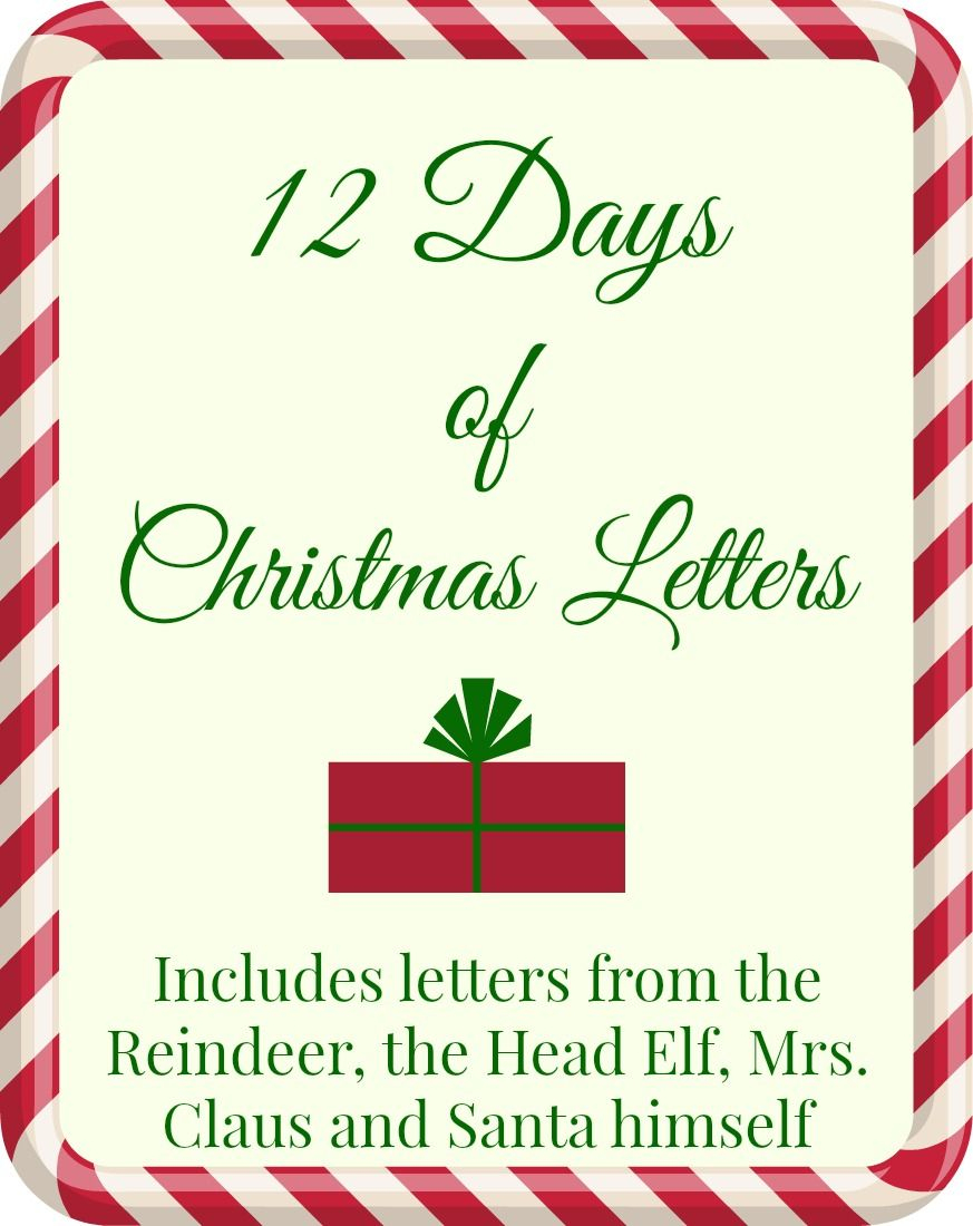 Free Printable: 12 Days Of Christmas Letters | Wantneedlove - Free Printable 12 Days Of Christmas Gift Tags