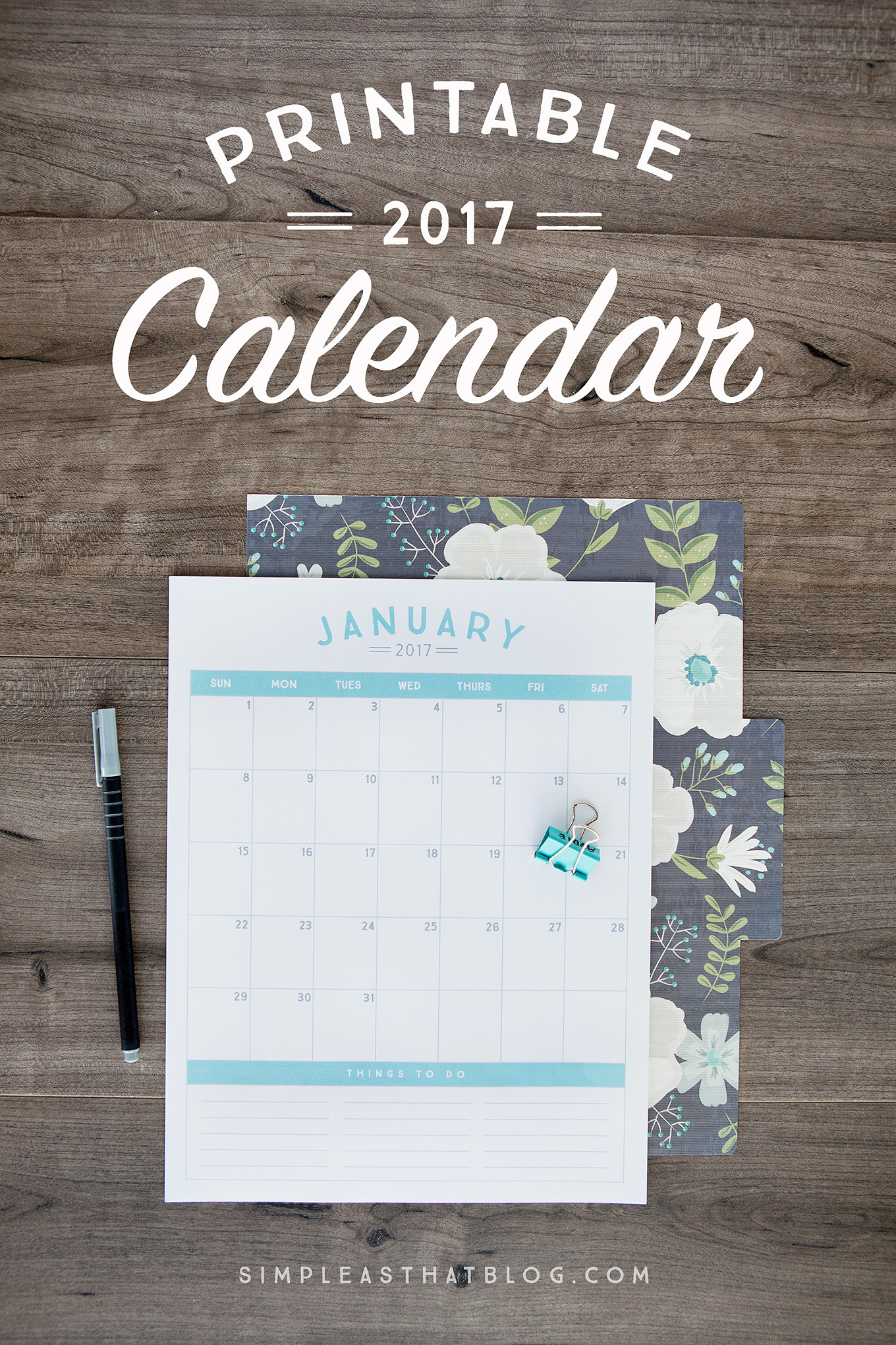 Free Printable 2017 Calendar - Free 2017 Printable