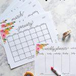 Free Printable 2017 Monthly Calendar And Weekly Planner   Free Cute Printable Planner 2017