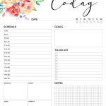Free Printable 2018 Planner 50 Plus Printable Pages   The Cottage Market   Free Printable Academic Planner