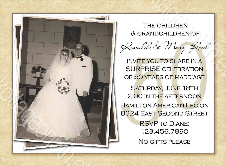 Free Printable 50Th Wedding Anniversary Invitation Templates | 50Th - Free Printable 50Th Anniversary Cards