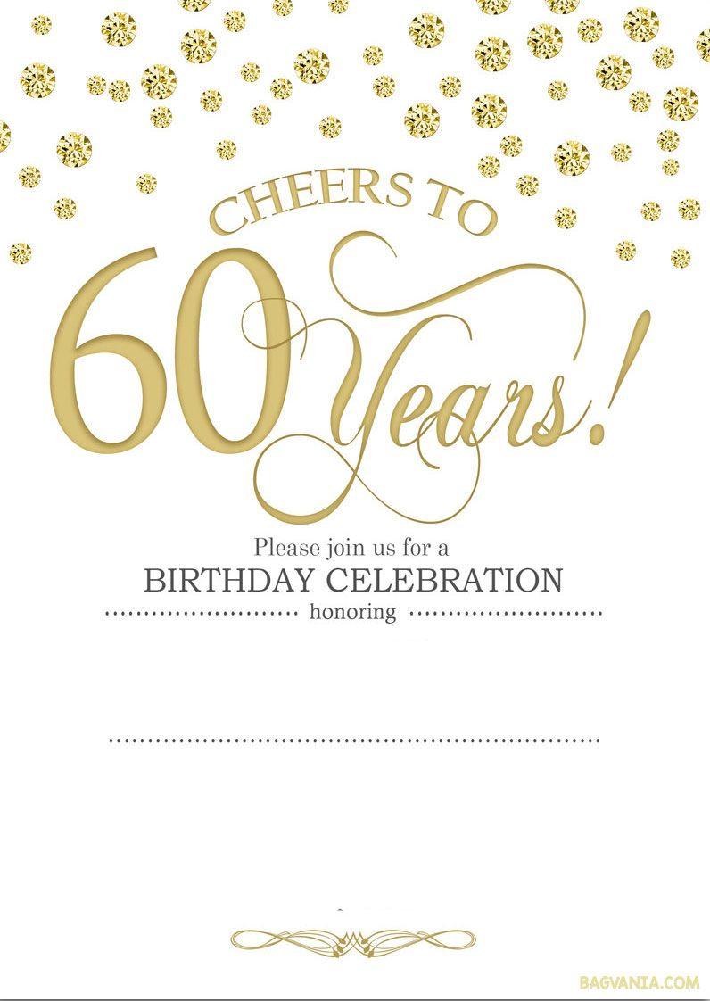 Free Printable 60Th Birthday   Kellies 50Th Bday Ideas   60Th - Free Printable Surprise 60Th Birthday Invitations