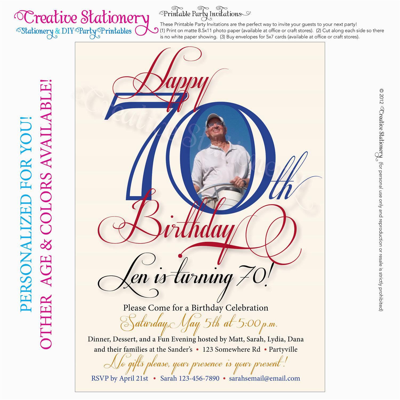 Free Printable 70Th Birthday Cards 70Th Birthday Party Invitations - Free Printable 70Th Birthday Party Invitations