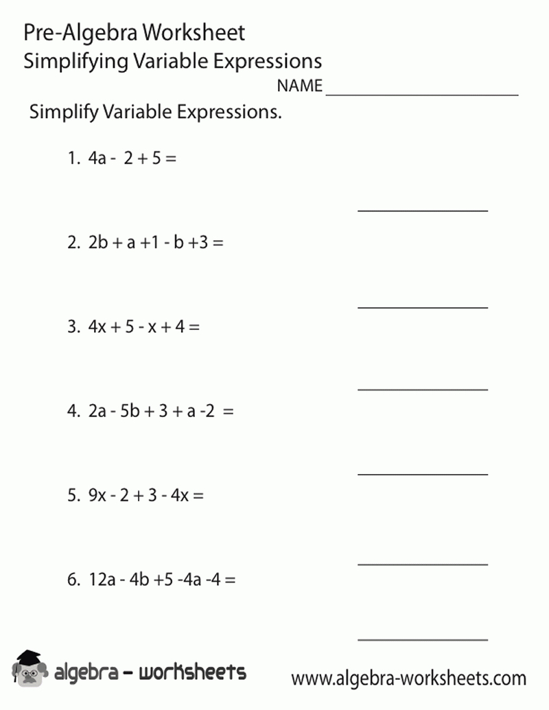 Free Printable 8Th Grade Math Worksheets For All Word Probl - Free Printable 8Th Grade Algebra Worksheets