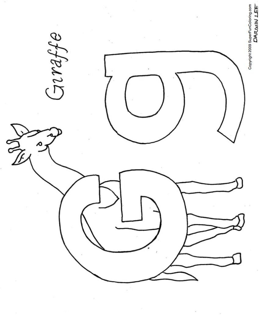 Free Printable Abc Coloring Pages G Is For Giraffe - Voteforverde - Free Printable Letter G Coloring Pages