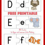 Free Printable Abc Puzzles: Upper And Lowercase Letter Matching   Free Printable Alphabet Letters Upper And Lower Case