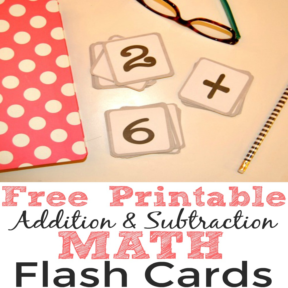Free Printable Addition And Subtraction Math Flash Cards - Simple - Free Printable Math Flashcards Addition