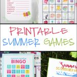 Free Printable Adorable Summer Bingo Cards   Pretty Providence   Free Printable Summer Games
