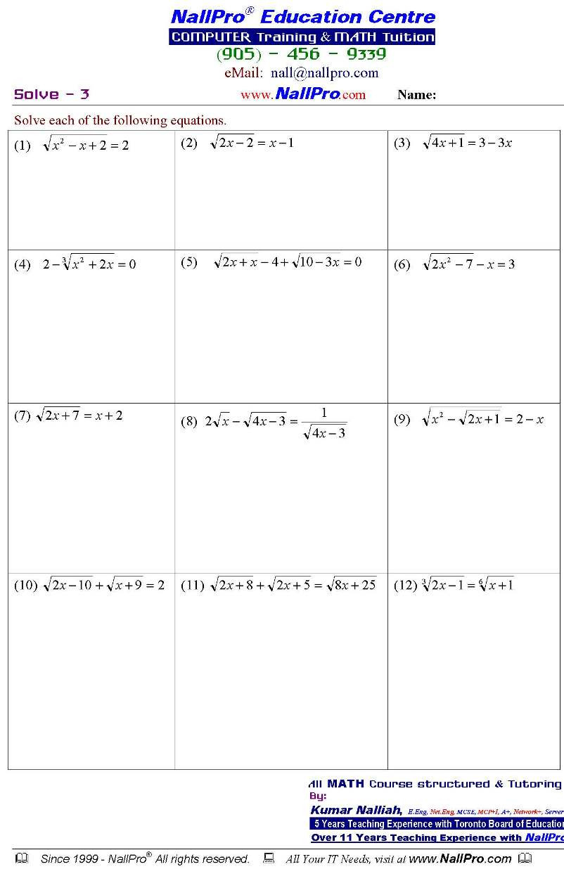 Free Printable Algebra Worksheets With Answers | Cialiswow - Free Printable Algebra Worksheets With Answers