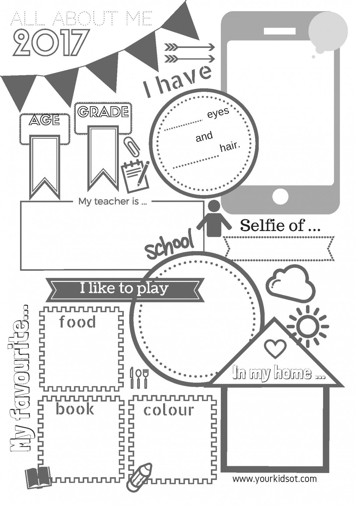 Free Printable All About Me Worksheet   Lostranquillos - All About Me Free Printable