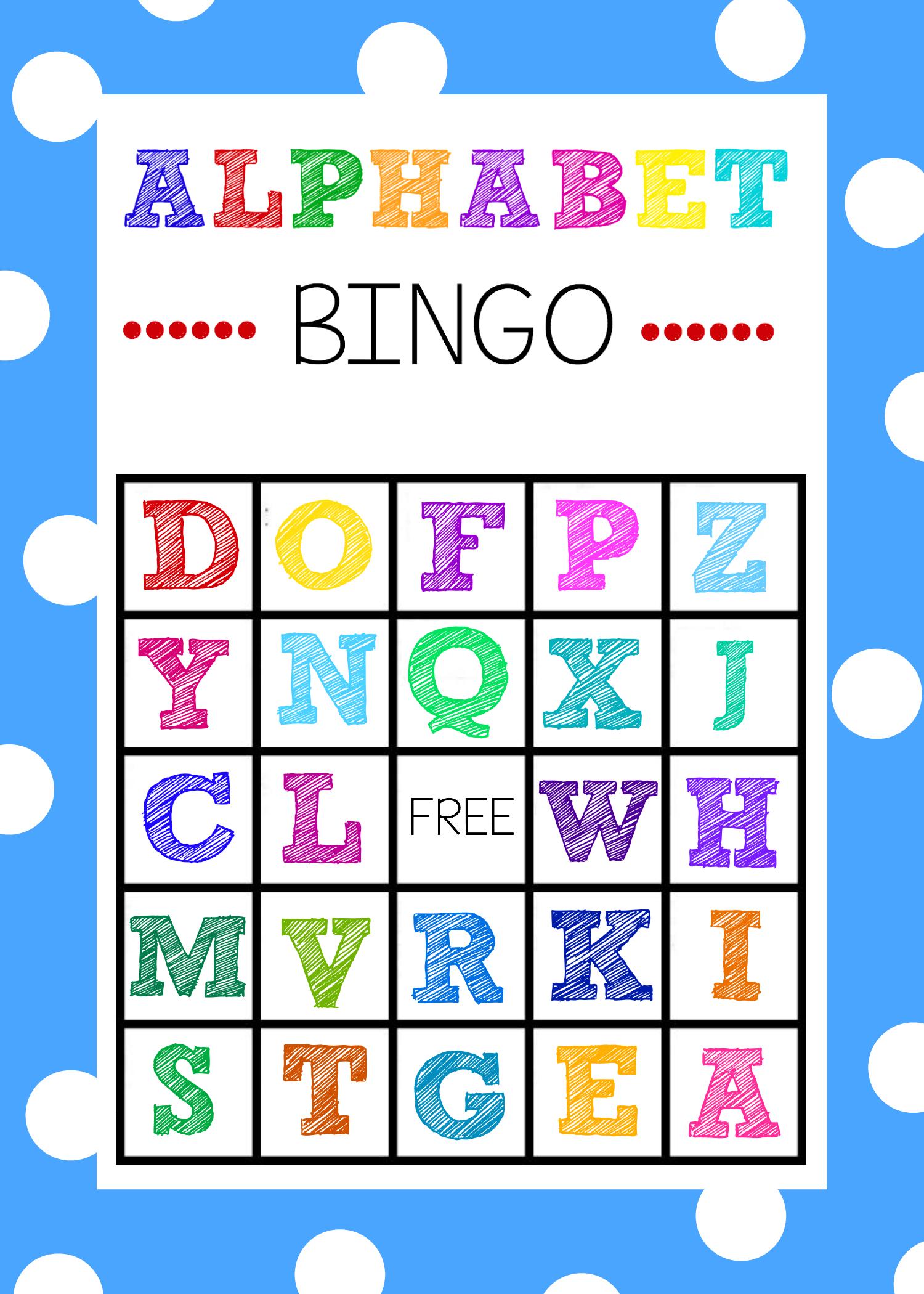Free Printable Alphabet Bingo Game | Abc Games | Pinterest - Free Printable Alphabet Bingo Cards