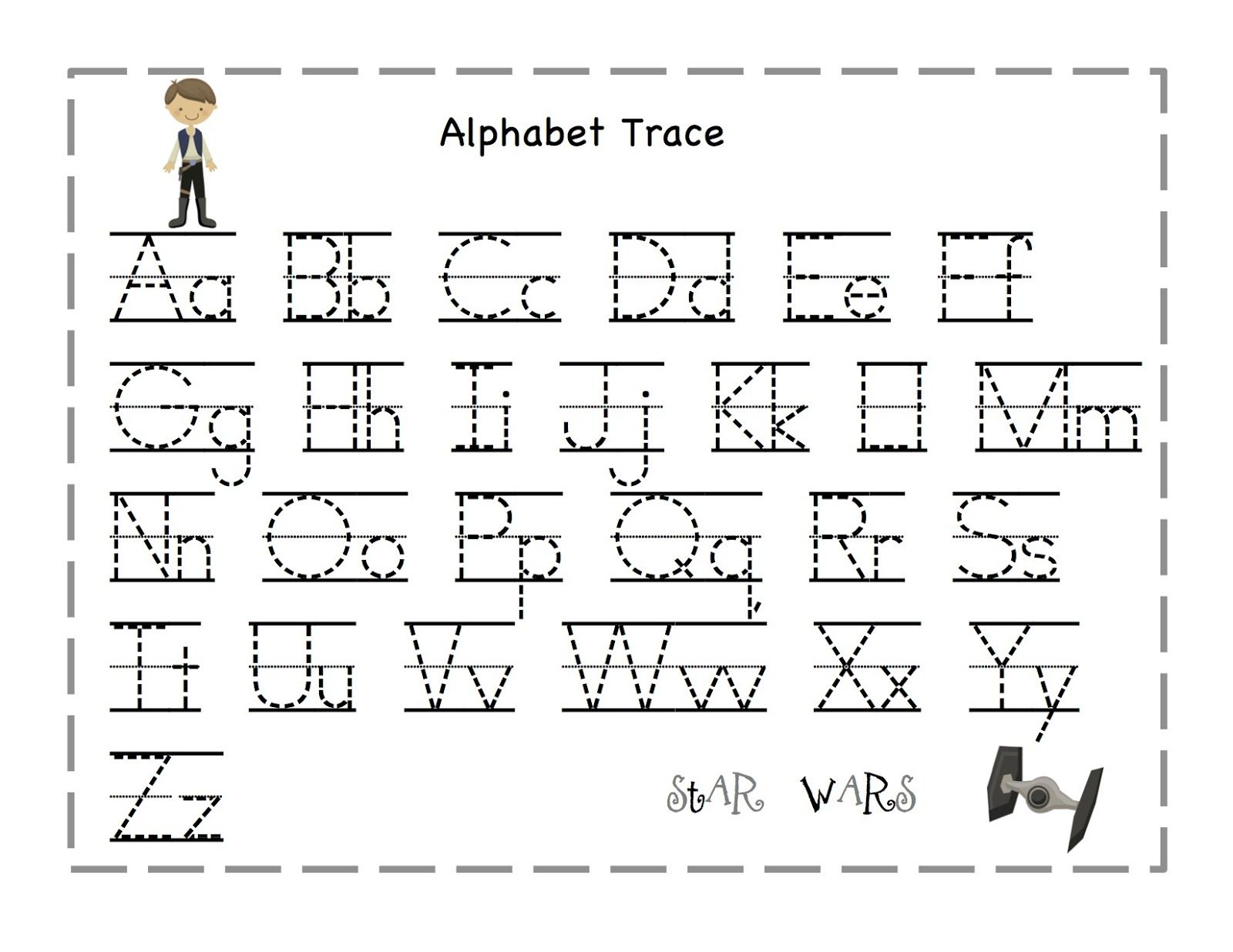 Free Printable Alphabet Letter Tracing Worksheets | Angeline - Free Printable Tracing Letters And Numbers Worksheets