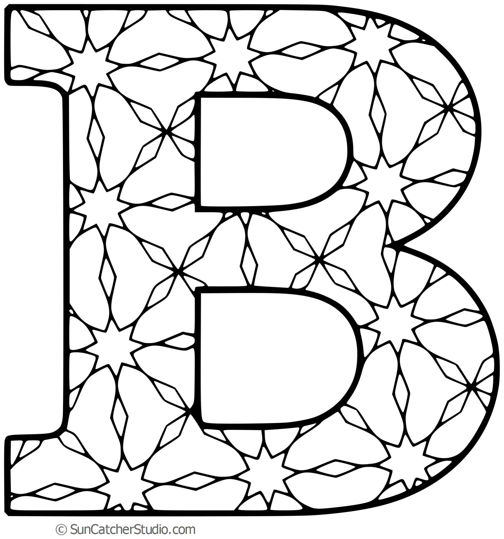 Free Printable Alphabet Letters For Coloring (With Patterns) - Free Printable Alphabet Letters To Color
