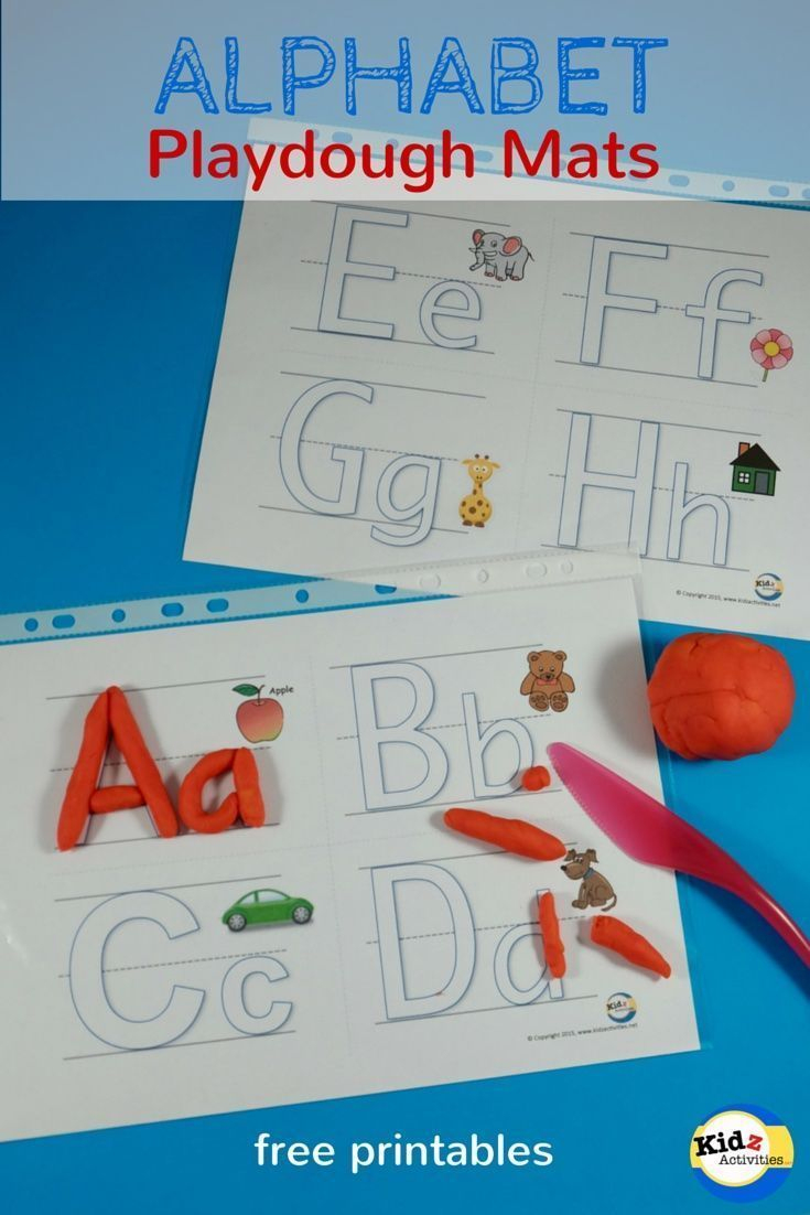 Free Printable Alphabet Playdough Mats - Kidz Activities | Speech - Alphabet Playdough Mats Free Printable