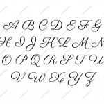 Free Printable Alphabet Stencil Letters Template | Art & Crafts   Free Printable Calligraphy Letter Stencils